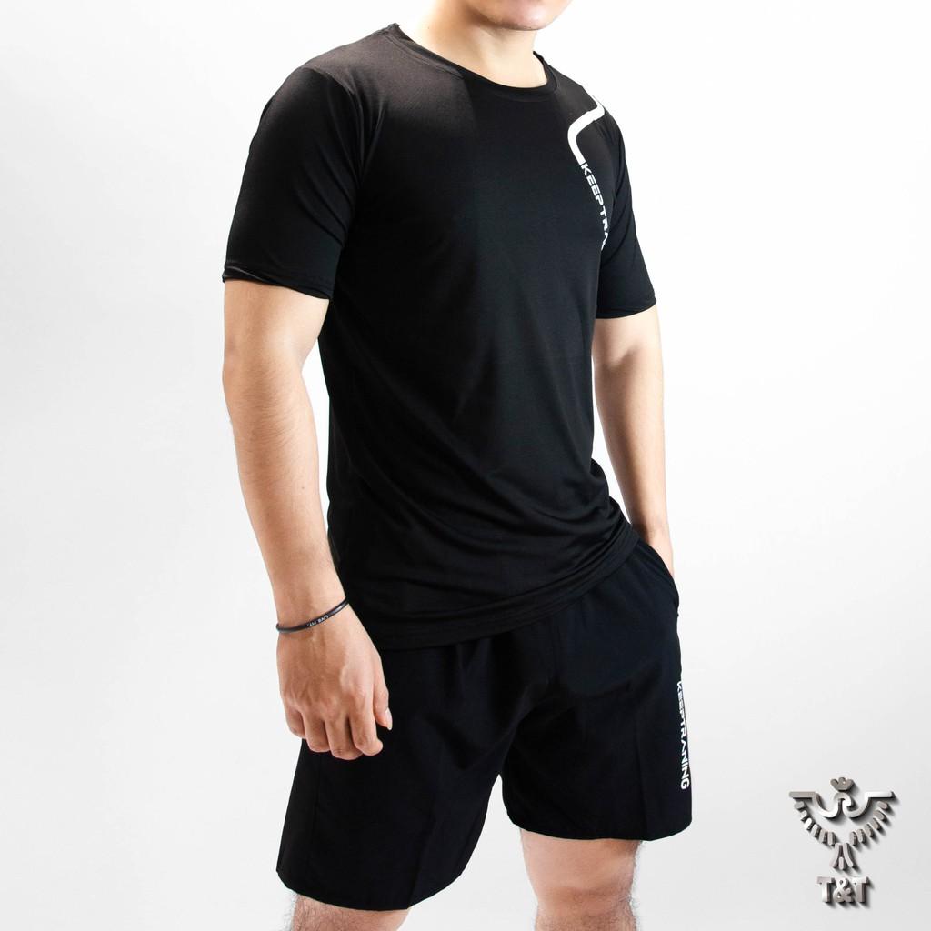 Mặc gì đẹp: Gọn tiện với Đồ bộ nam bộ thể thao nam mặc ở nhà tập thể dục cho mùa hè  DB02