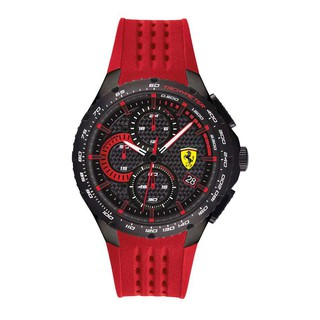 [Mã FARSBR153 giảm 15% đơn 150K] Đồng Hồ Ferrari Nam Dây Cao Su Pin-Quartz 0830727 - Mặt Đen (44mm)