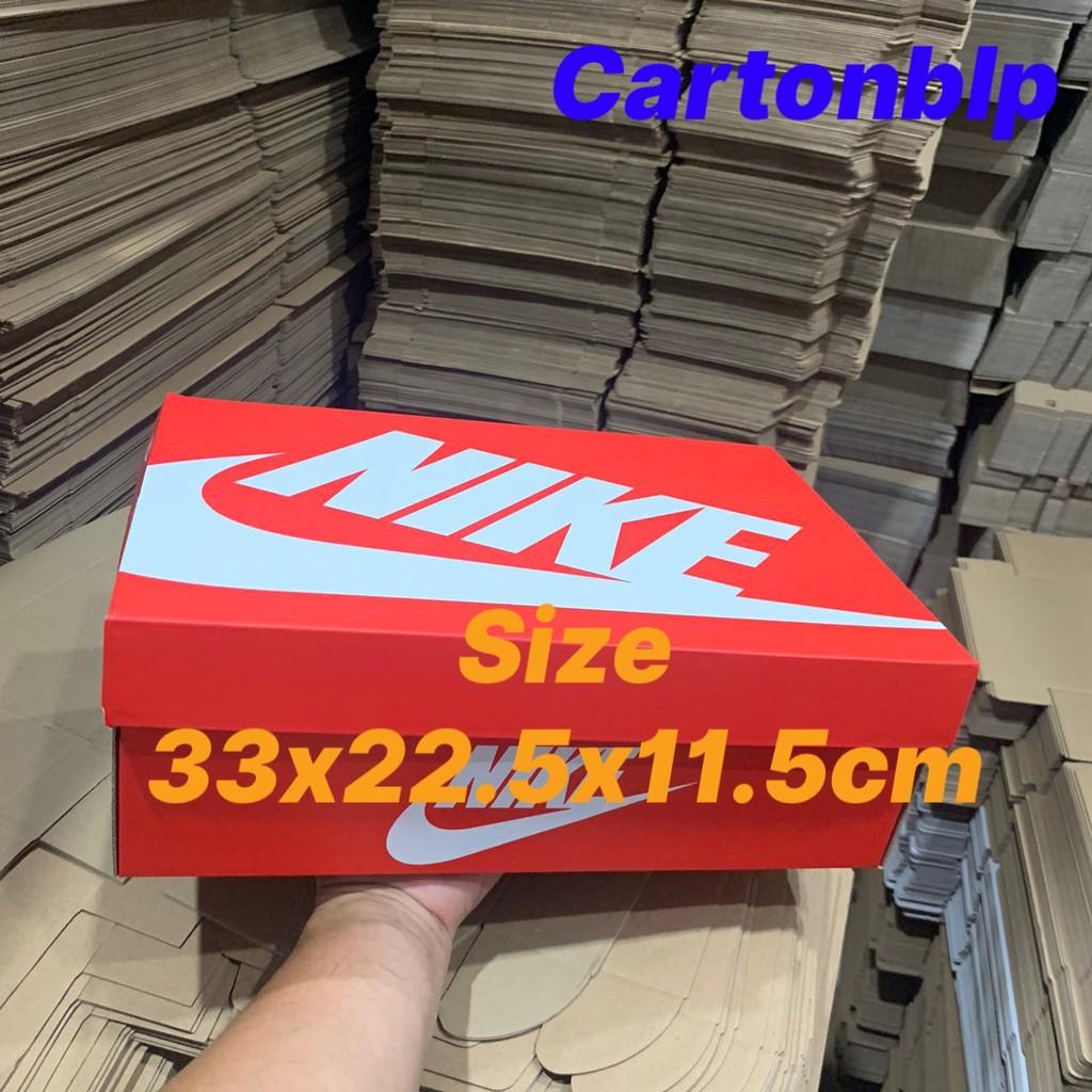 Hộp đựng giày nike size 33x22.5x11.5cm màu đỏ