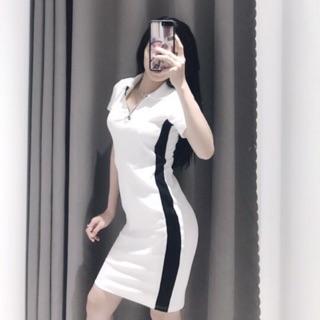 Váy body kẻ sọc