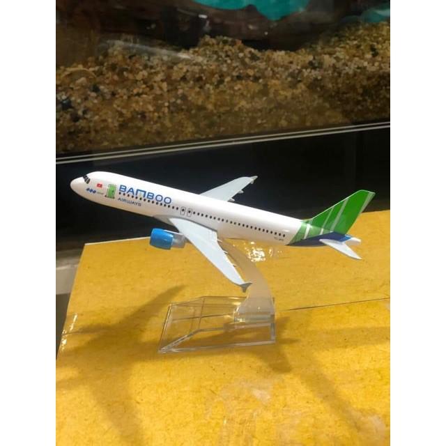 Mô hình máy bay Bamboo Airways a320 16cm