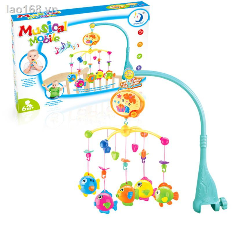 brain game┋✼Newborn baby toy 0-1 year old bed bell, 3-6-12 months music rotating bedside bell rattle hanging