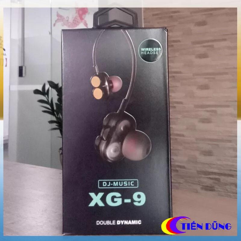 Tai nghe bluetooth DJ Music XG 9 chống nước IPX5 kiểu dáng thể thao dạng tại vòng cổ