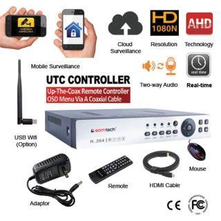 Đầu ghi samtech AHD 4 kênh analog, 8 kênh IP 2MP