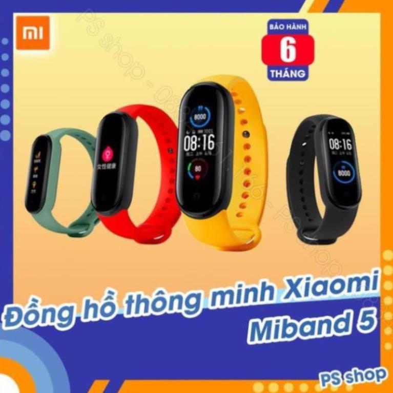 Vòng tay thông minh Xiaomi Mi Band 5 / Đồng hồ thông minh Miband 5 -  [ Bảo hành 6 tháng ]