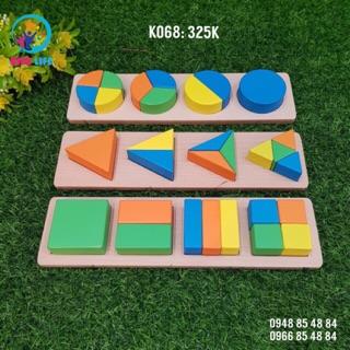 Combo 3 bảng hình học Montessori