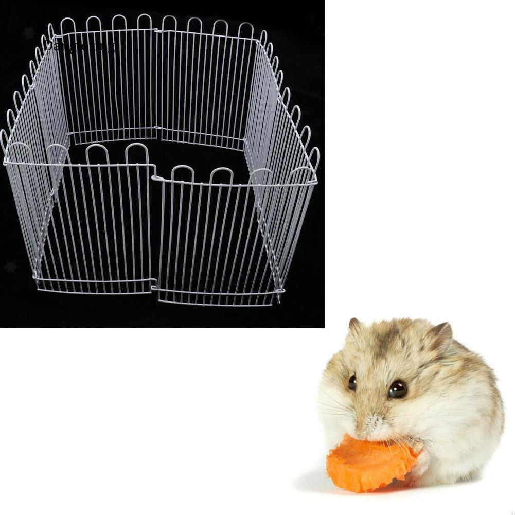 【DGLG】23cm 8 Panels Metal Hamster Small Animals Playpen Run Cage Toy Pet Supplies