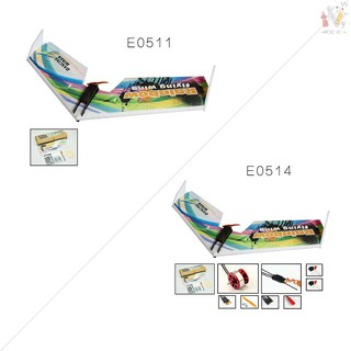 ❤RCC❤Dancing Wings Hobby E0511 Rainbow Flying Wing V2 RC Airplane 800mm Wingspan Delta Wing Tail-pus