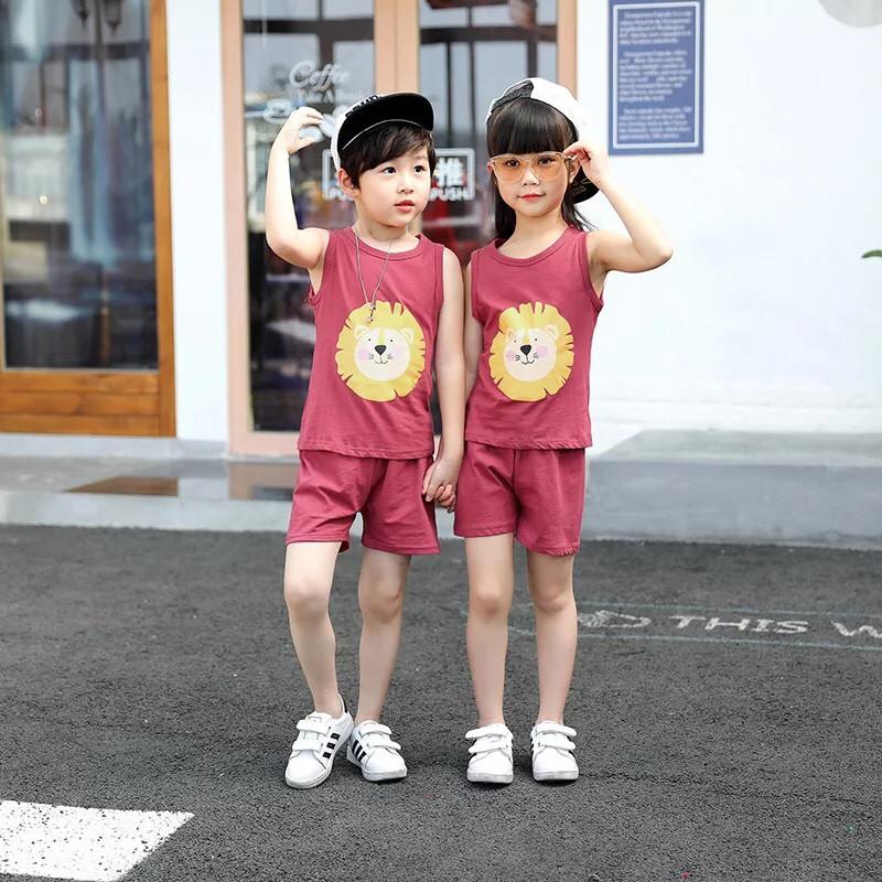 Đồ bộ mùa hè bé trai, bé gái Quảng Châu