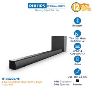 Loa Soundbar Bluetooth Philips HTL1520B 98 + loa sub thumbnail