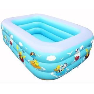 Bể bơi phao mini cho bé 3 tầng dài 1m8 hàng chính hãng Lh zalo 0962635288