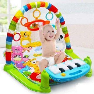 Thảm nhạc piano cho bé chơi, có nhạc, đèn phát sáng và đồ chơi lục lạc, dành cho bé từ 0 đến 36 tháng
