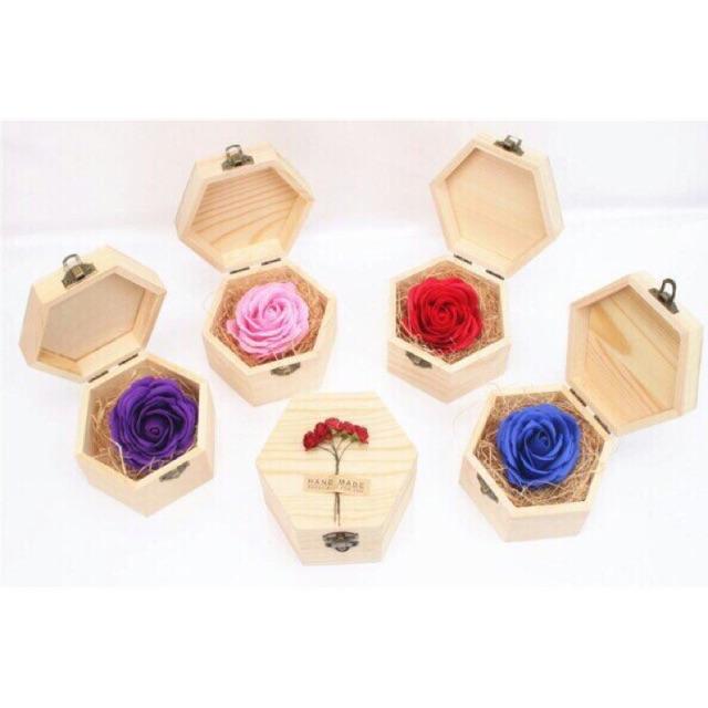 Combo 5 Hộp hoa sáp thơm bằng gỗ