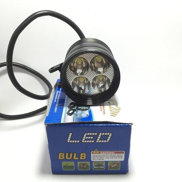 ĐÈN TRỢ SÁNG L4 ngắn 3 chế độ lắp cho xe máy xe đạp điện