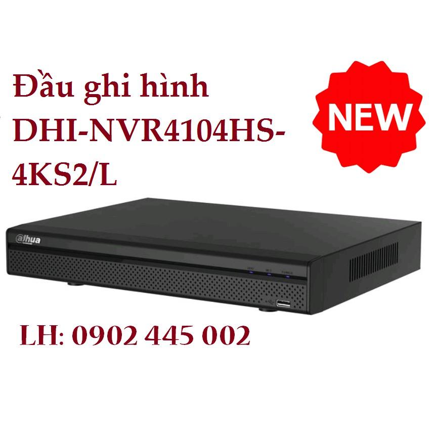 Đầu ghi hình Dahua 4 kênh Camera Ip DHI-NVR4104HS-4KS2/L (Hỗ trợ SMD)