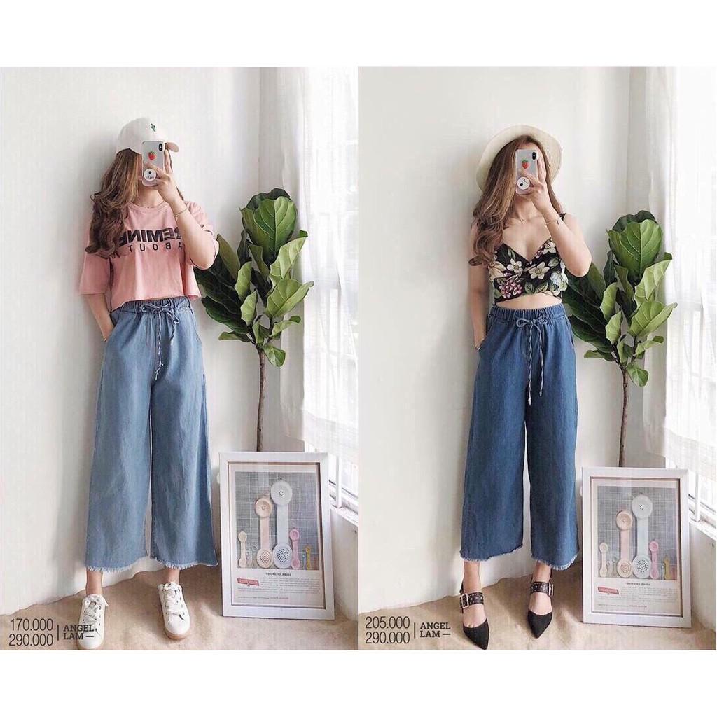 FS50K_Quần Jeans Nữ Ống Rộng OHS3043
