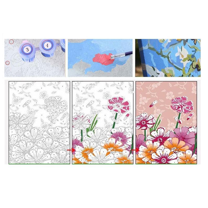 Tranh sơn dầu số hóa T Art Tranh Hoa Sen H043