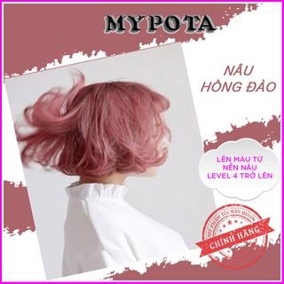 Thuốc nhuộm tóc nâu hồng đào phong cách hàn quốc tự nhuộm tại nhà TN10