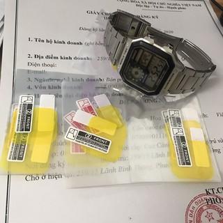 Miếng dán bảo vệ mặt kính đồng hồ AE1200/1300 chống va chạm và trầy xước