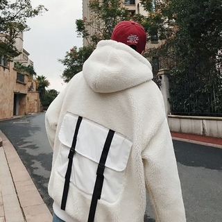 Áo Khoác Len Lông Cừu Tay Dài Thời Trang Mùa Đông Cho Nam Giới