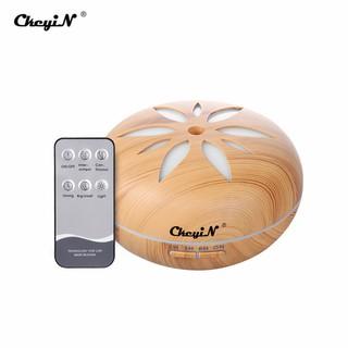 Máy khuếch tán tinh dầu tạo độ ẩm CkeyiN JS014U cơ chế siêu âm có 7 đèn LED 550ml