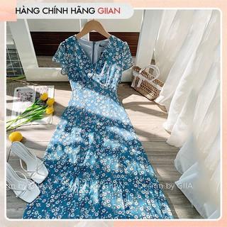 Giian - Váy hoa nhí xẻ tà, đầm dài cổ V voan nhẹ, mát - thiết kế chính hãng - KT77 thumbnail