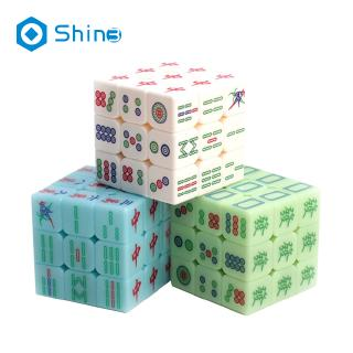 Zcube Luminous Mahjong 3x3x3 Magic Cube Speed Puzzle Game Cubes Educational Toys for Children