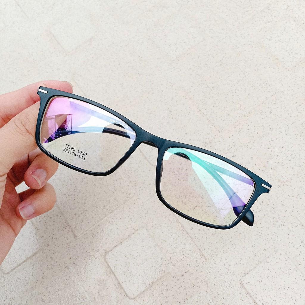 Gọng kính dẻo xịn Vuông + Tròng cận tốt (Thái)