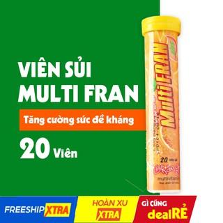 Viên sủi bổ sung vitamin Multifran tăng cường khả năng miễn dịch, bảo vệ sức khỏe