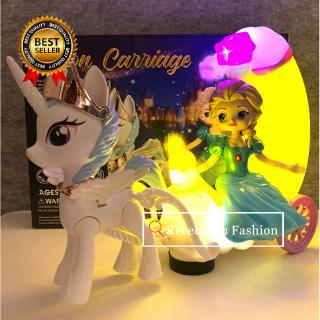 Dancing Dolls With Light Sound Frozen Elsa Anna Unicorn Toys For Girls