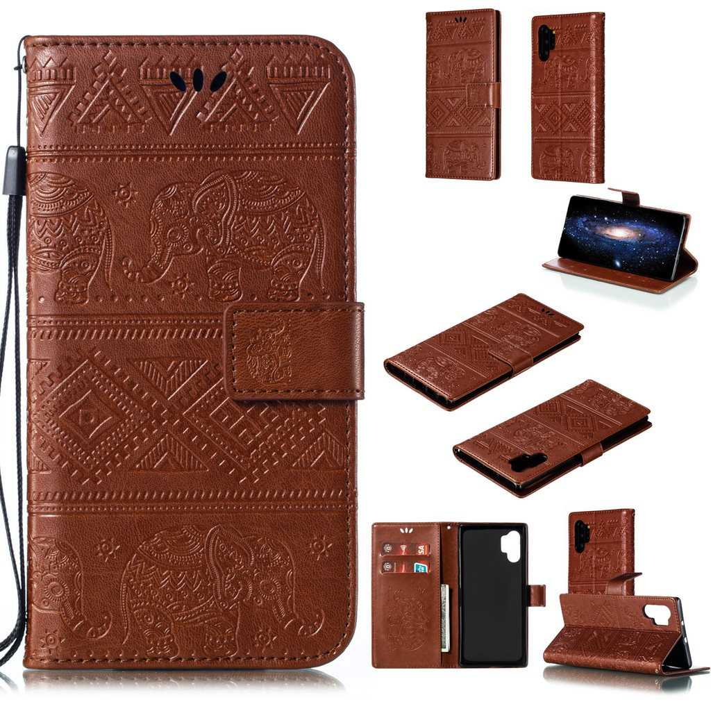 For Samsung galaxy NOTE10 NOTE10PRO S10 S10PLUS S10E Fashion elephant embossed anti-fall mobile phone holster