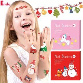 FREESHIP TOÀN QUỐC – Set tatoo & nail Endu siêu xinh cho bé