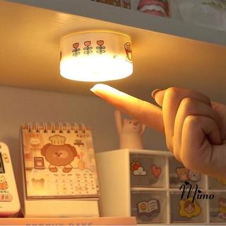 [KÈM STICKER] Đèn led tròn dán tường 3 màu ánh sáng hài hòa kèm dây sạc đế nam châm, trang trí bàn học, tủ quần áo,…