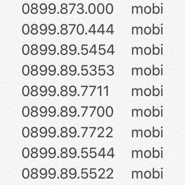 SIM SỐ ĐẸP MOBI KHUYẾN MÃI ĐỒNG GIÁ 600k/sim
