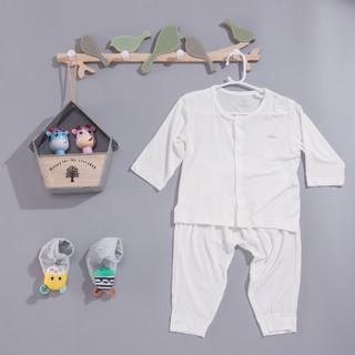 Bộ quần áo dài tay Eco chất Petti - modal làm từ sợi cây sồi siêu mềm và thoáng khí Comfybaby CF-003 6 tới 12 tháng