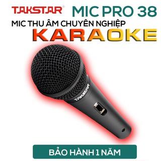 Mic Karaoke có dây Takstar Pro-38, hát cực hay, chống hú, hàng lỗi đổi mới trong 30 ngày thumbnail