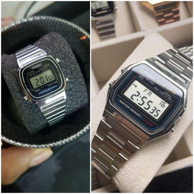 Đồng hồ nam nữ Casio A158, La670 chính hãng
