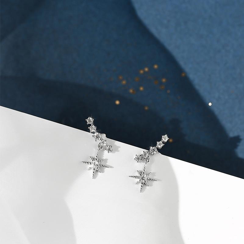 Bông tai bạc 925 thiết kế đơn giản thời trang sang trọng