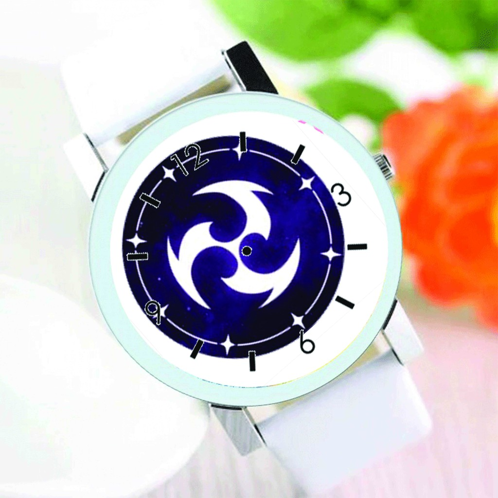 Đồng hồ đeo tay nam nữ in hình NGUYÊN TỐ VISION GENSHIN IMPACT game anime chibi thời trang dễ thương độc đáo M3