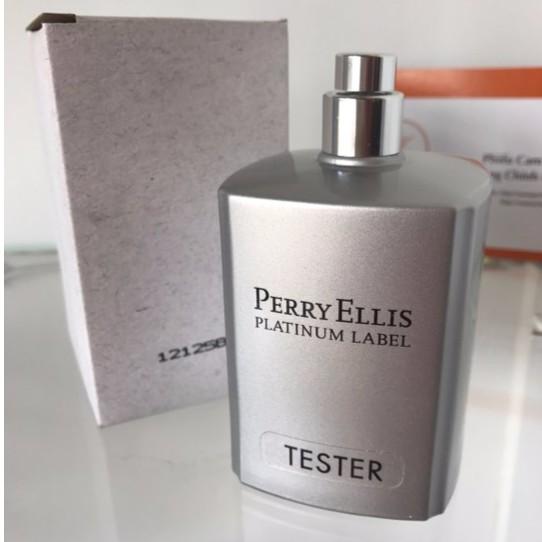 Nước hoa Tester Perry Ellis Platinum Label 100ml for men không nắp hộp trắng như hình