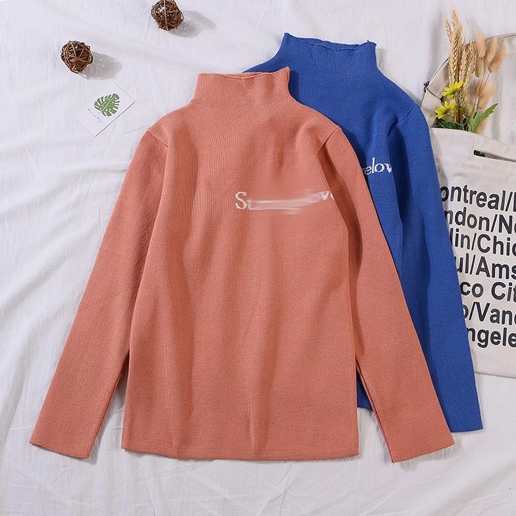 A@142019 spring new Korean version of the loose half-high collar bottoming shirt