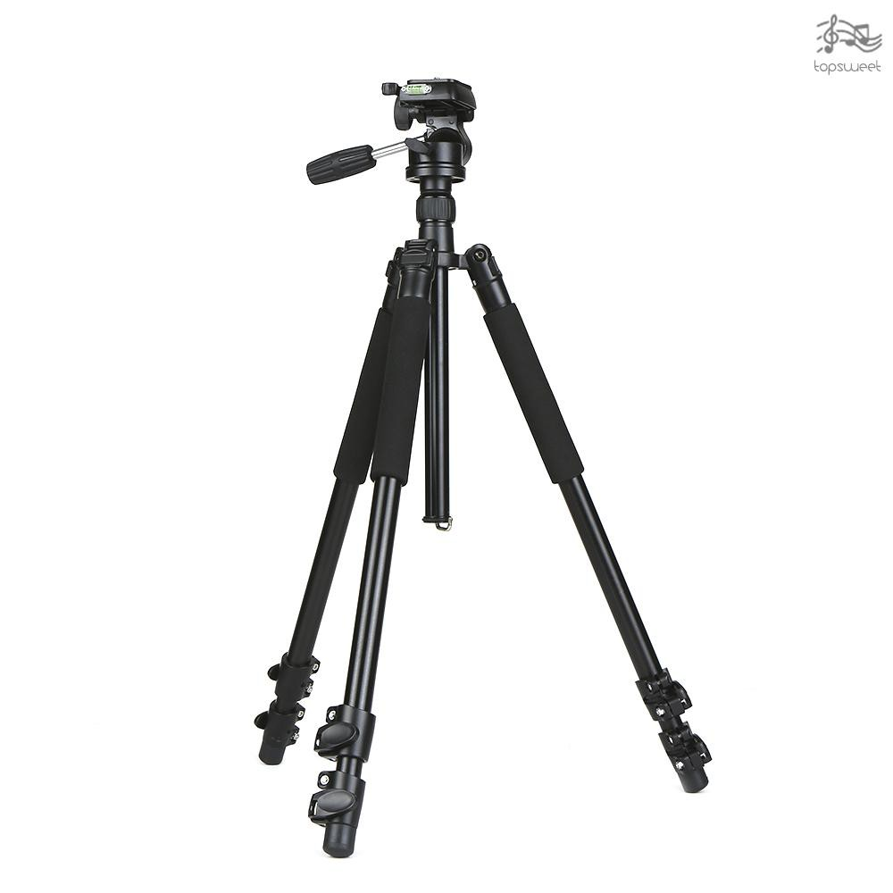 TS* Professional DSLR Aluminum Alloy Camera Tripod Monopod with 360 Panorama Ball Head Quick Release Plate 3-Section Tel