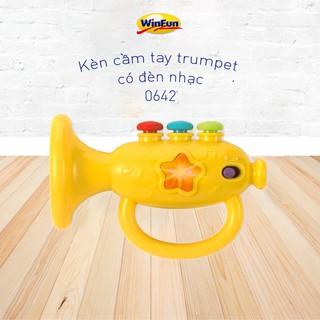 Kèn cầm tay trumpet có đèn nhạc Winfun 0642 chính hãng