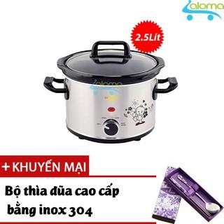 Nồi nấu chậm hầm kho nấu cháo dinh dưỡng 2.5 lít BBcooker BS25 - Tặng bộ thìa đũa Inox thumbnail