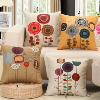 Gối tựa lưng,gối sofa trang trí cây hoa (vỏ gối không ruột) thumbnail