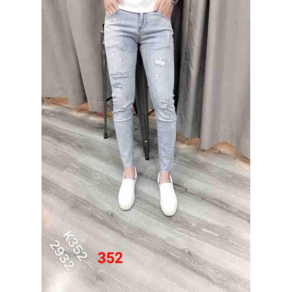 Quần jean nam wash, xanh nhạt phong cách trẻ trung năng động MS 352 có size đại