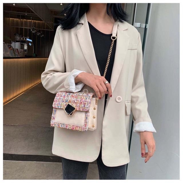 [Hàng mới về] Túi đeo chéo nữ ulzzang vintage 2020 phong cách Hàn Quốc