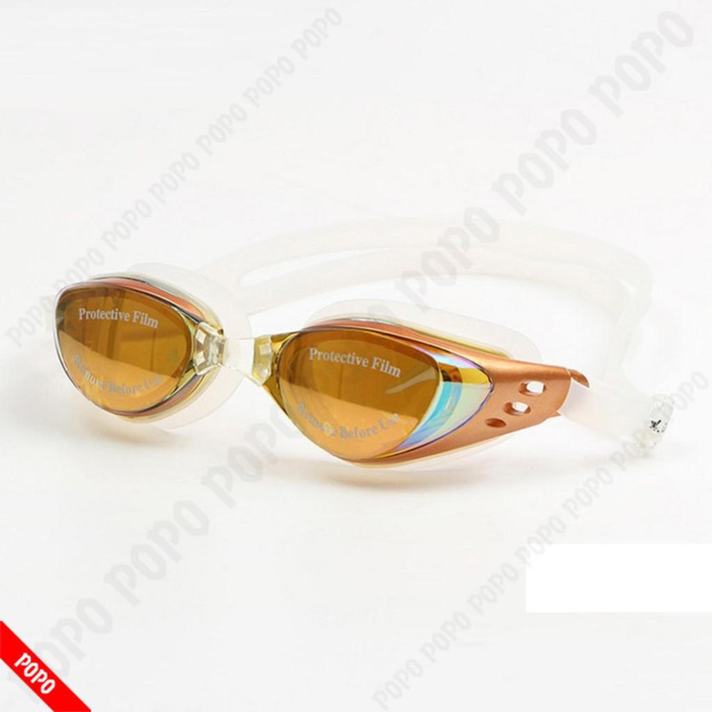 Kính bơi thời trang thế hệ mới 610 Vàng kiểu dáng nhỏ gon, chống UV, chống sương mờ POPO Collection