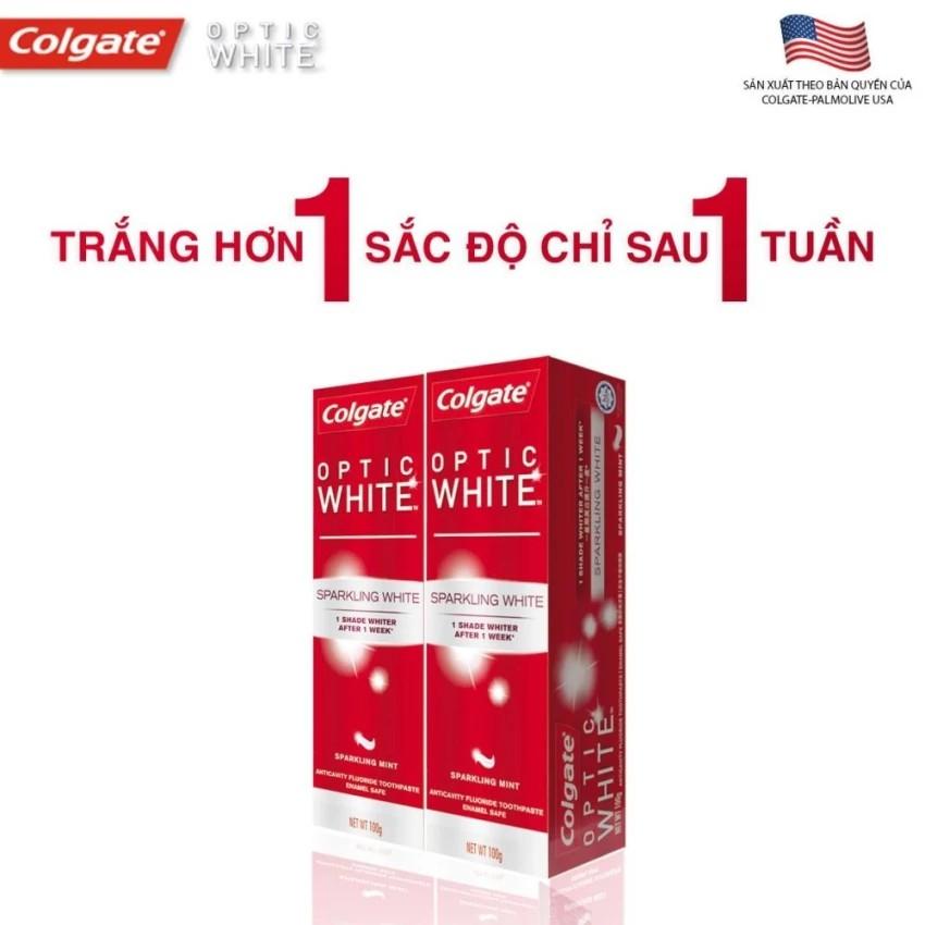 Bộ 2 kem đánh răng Colgate Optic White làm trắng răng 100g - 3229075 , 373265782 , 322_373265782 , 78000 , Bo-2-kem-danh-rang-Colgate-Optic-White-lam-trang-rang-100g-322_373265782 , shopee.vn , Bộ 2 kem đánh răng Colgate Optic White làm trắng răng 100g