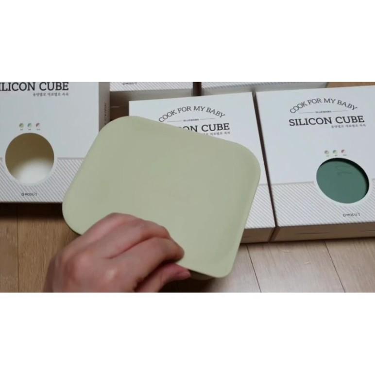 Khay trữ đông thức ăn Bluemama silicon - Made In Korea